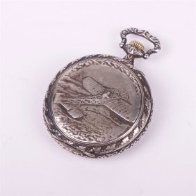 Military Wwi Pilot Aviators Pocket Watch.