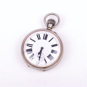 Metal Military Pocket Watch.
