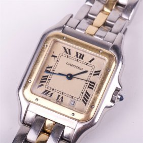 "panthere" Quarz Mens Wristwatch With Calendar.