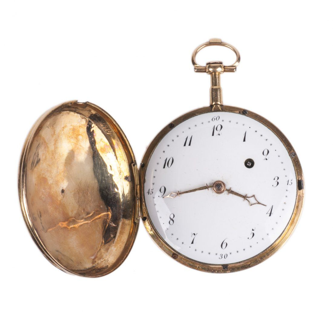 18K gold hunter case pocket watch