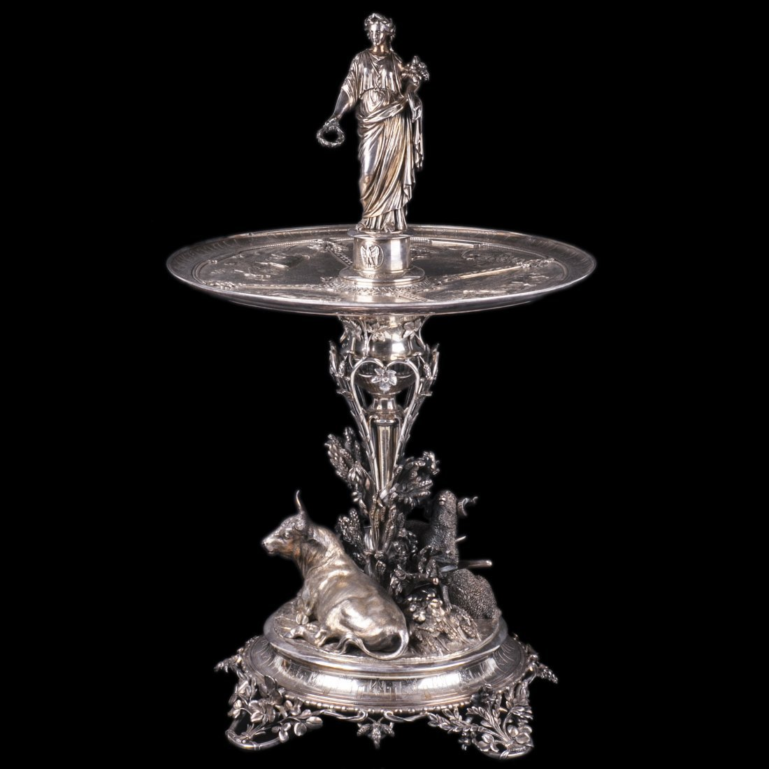 French silver figural Centerpiece