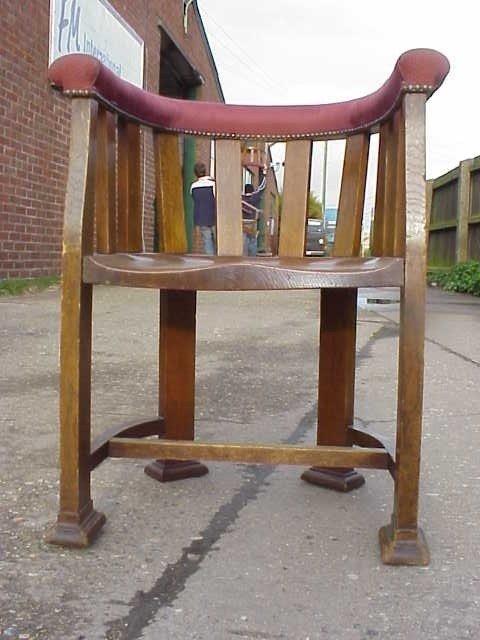 4: Arts & Crafts Liberty style oak tub chair