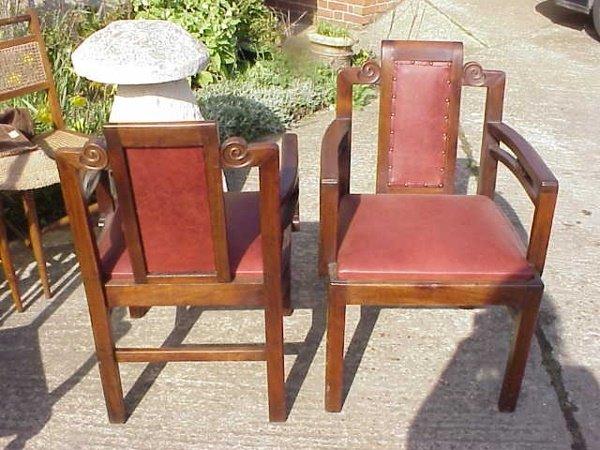 20: 2 Art Deco armchairs attr' to Frank Brangwyn