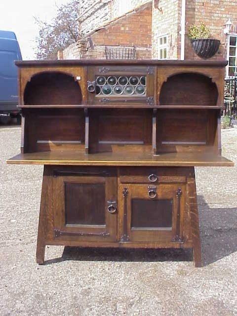 27: Liberty & Co oak Arts & Crafts sideboard