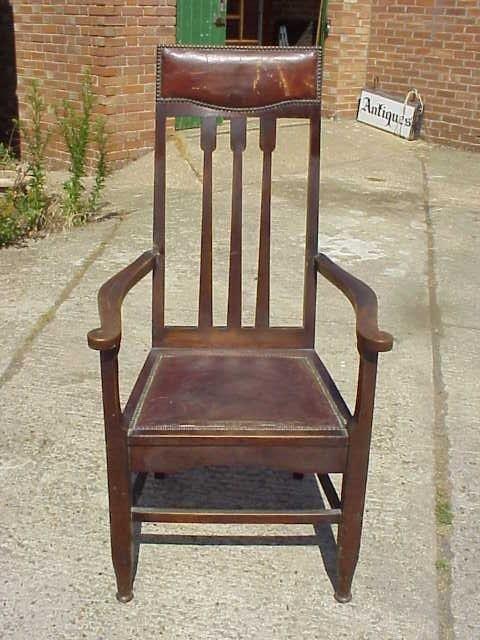 4036: Glasgow style oak Arts & Crafts armchair