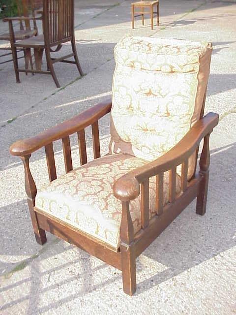 4038: Arts & Crafts oak reclining armchair