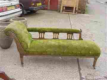 4104: Arts & Crafts Glasgow School Chaise Lounge