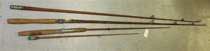 Lot Of Vintage Split Bamboo Fishing Rods or Poles
