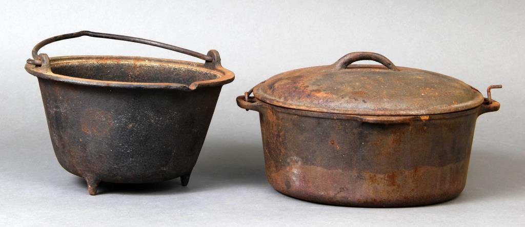 (2) Pieces Early American Cast Iron