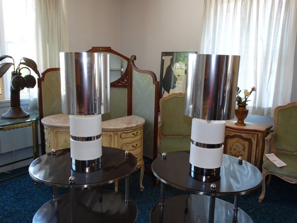 Pr. Of Mid-Century Modern Style Table Lamps