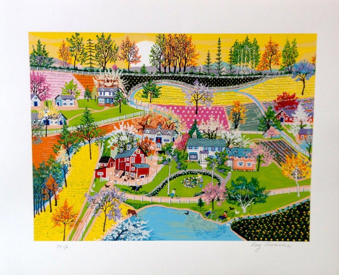 """""""Spring in Gettysburg"""" serigraph by Kay Ameche"""