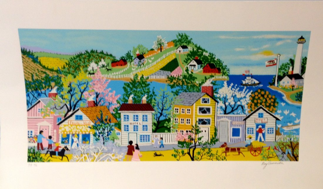 """""""Ft. Point, San Francisco, CA"""" serigraph by Kay Ameche"""