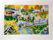 """Apple Blossom Glory"" serigraph by Kay Ameche"