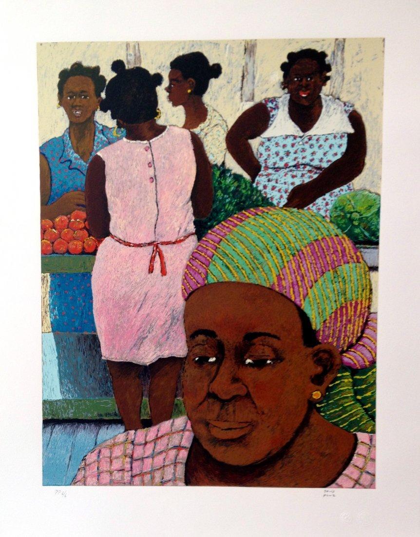 """""""Women of Guadeloupe"""" lithograph by David Azuz"""