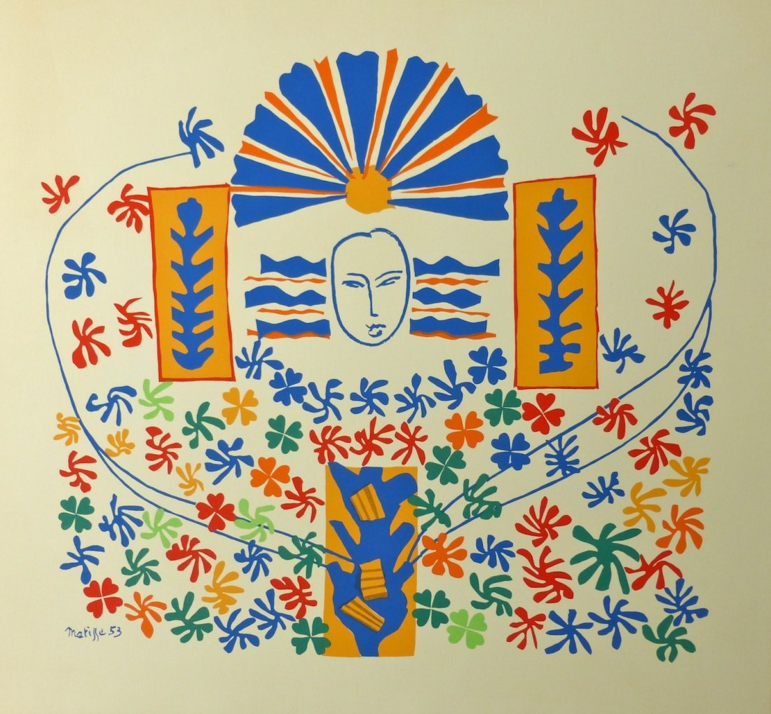 """""""Apollon"""" lithograph by Matisse."""