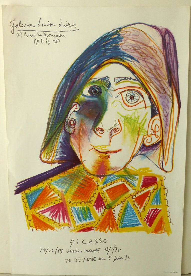 """""""Clown for Leiris"""" lithograph by Picasso"""