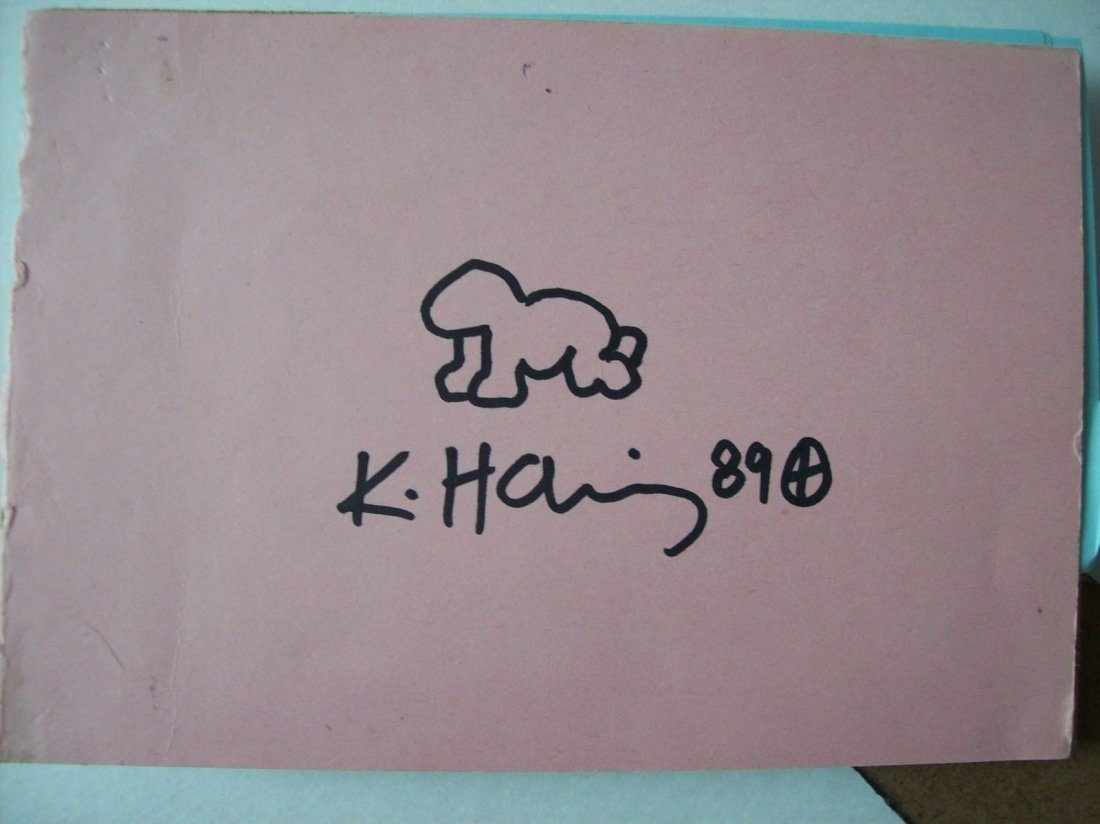 Keith Haring marker drawing of baby