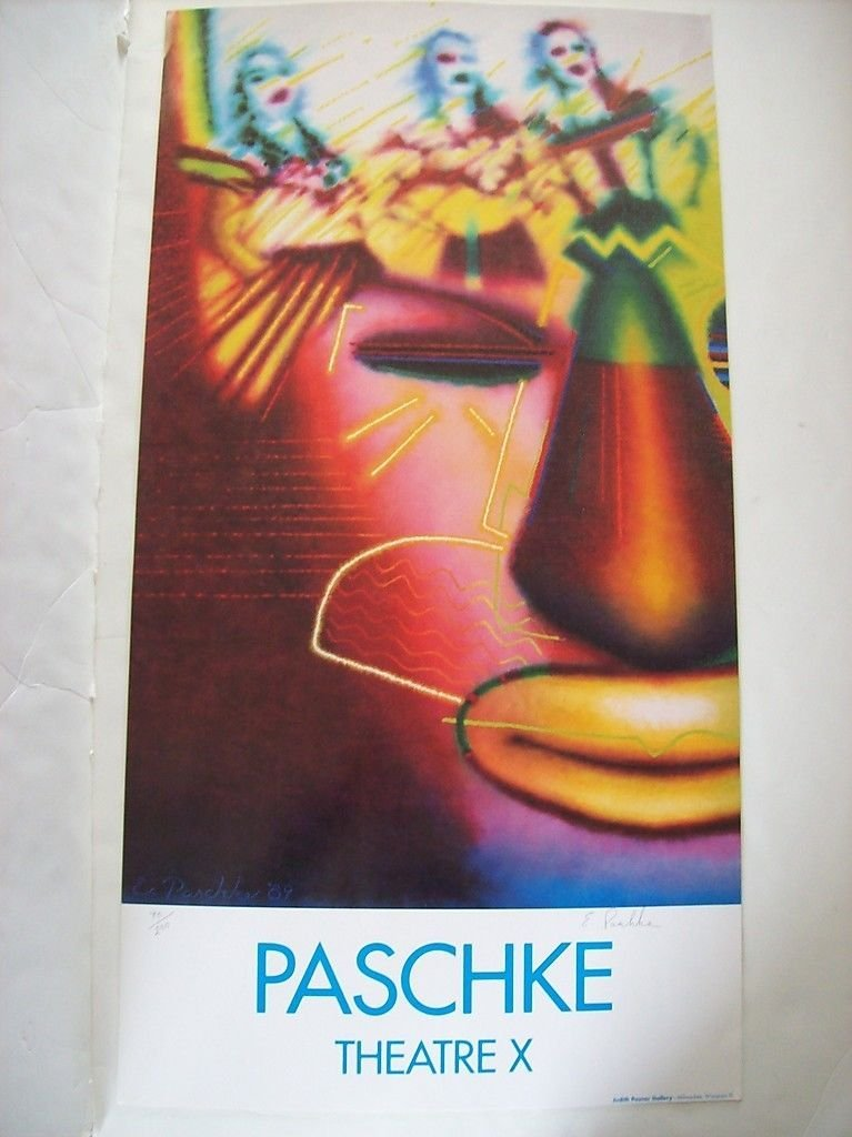 """Lot of 5 Ed Paschke """"Theater X"""" posters.  3 signed.  2"""