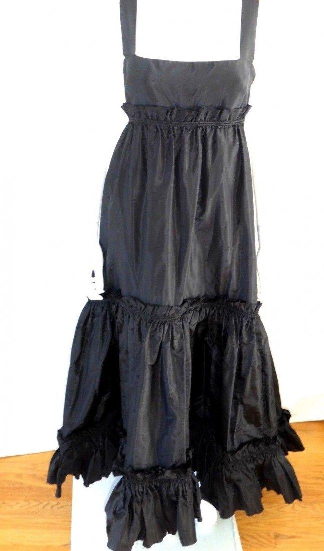 New with Tags!  Oscar de la Renta black couture gown.