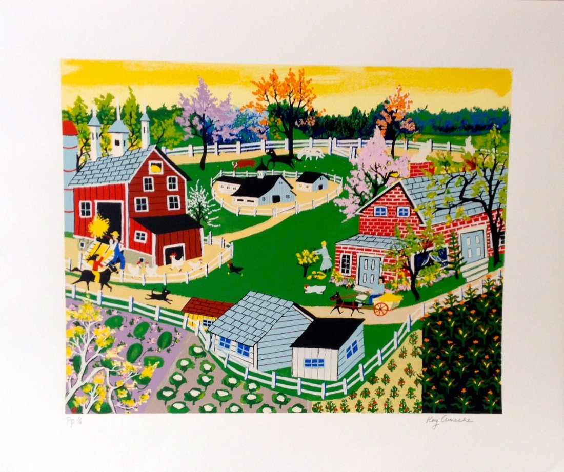 """Eisenhower Farm at Gettysburg"" serigraph by Kay Ameche"