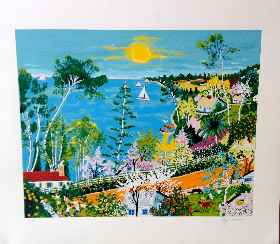 """Pacific Coast Highway"" serigraph by Kay Ameche"