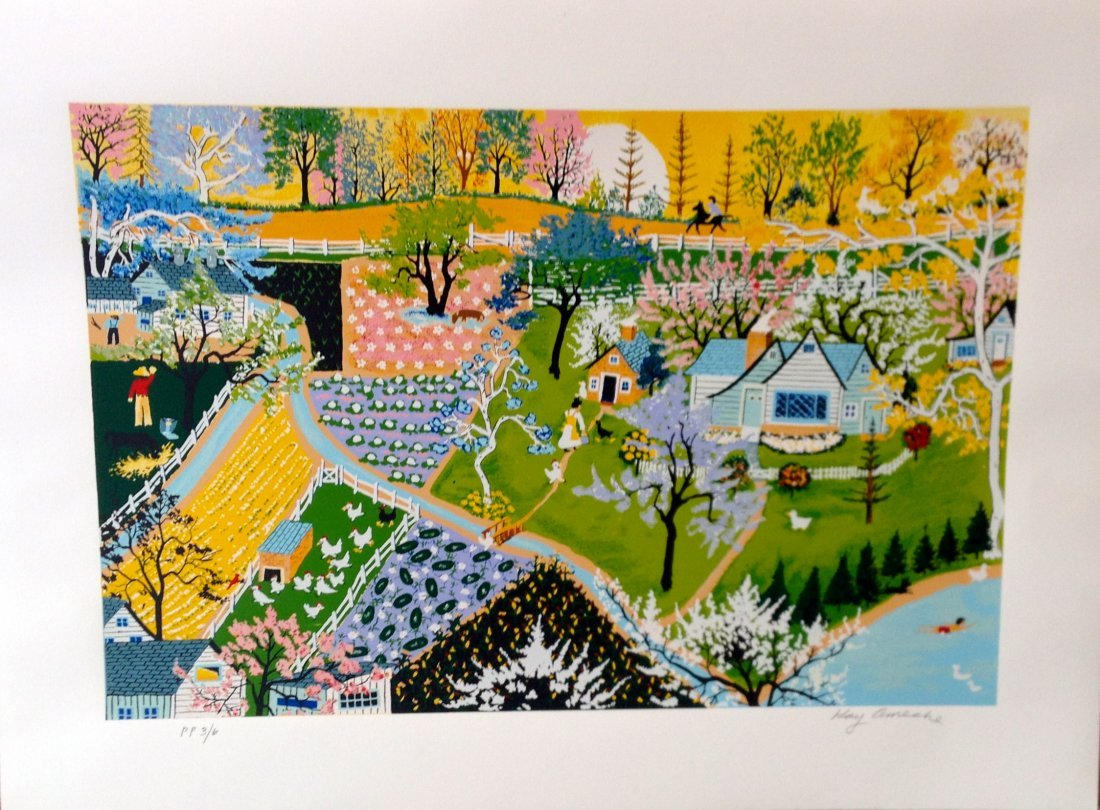 """""""Spring Fever"""" serigraph by Kay Ameche"""