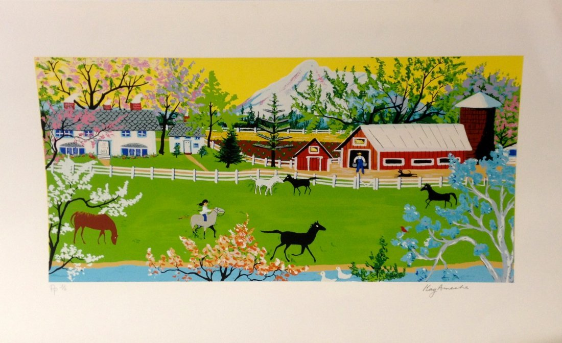 """""""Mt. Shasta, CA"""" serigraph by Kay Ameche"""