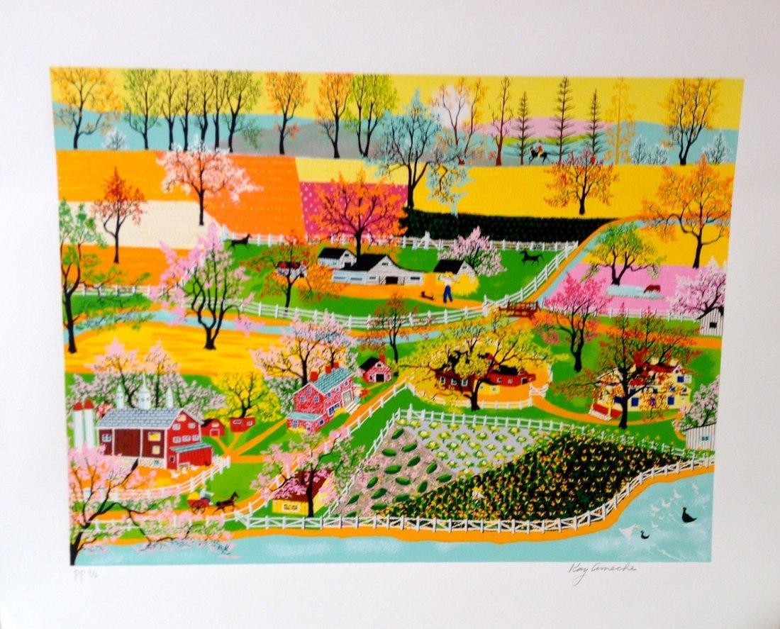 """Springtime"" serigraph by Kay Ameche"