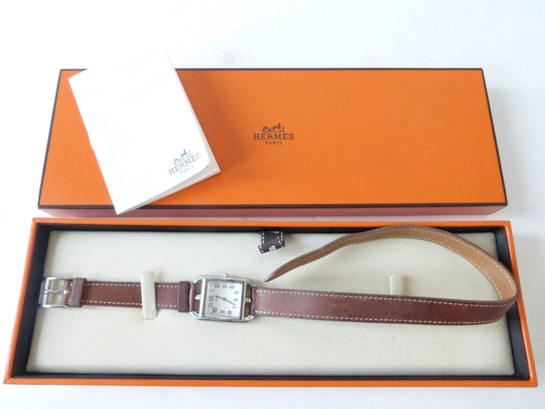 Hermes Cape Cod Double Tour Watch with Calfskin Strap