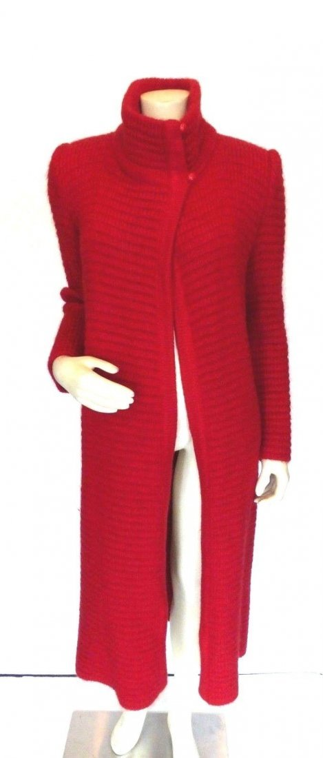Chloe vintage red sweater coat, size 4/40. Fits like a