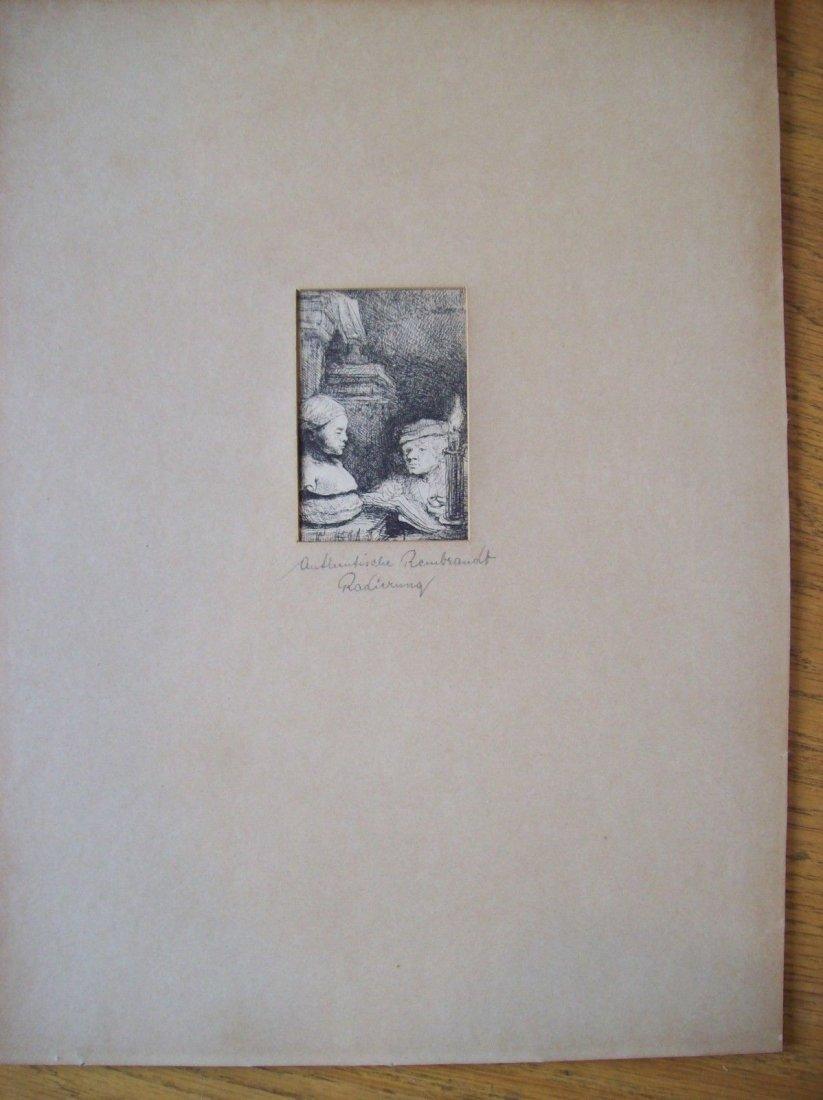 "Rembrandt Van Rijn ""Man from Cast"" drypoint etching"