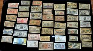 A Group of Assorted Currency 48 pieces