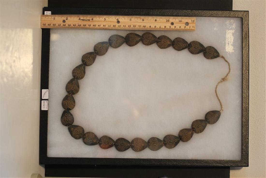 "Approx 30"" Alabama Pottery Beads, Ex Tim Weaver"