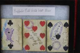 Three Buffalo Bill Wild West Show Cards