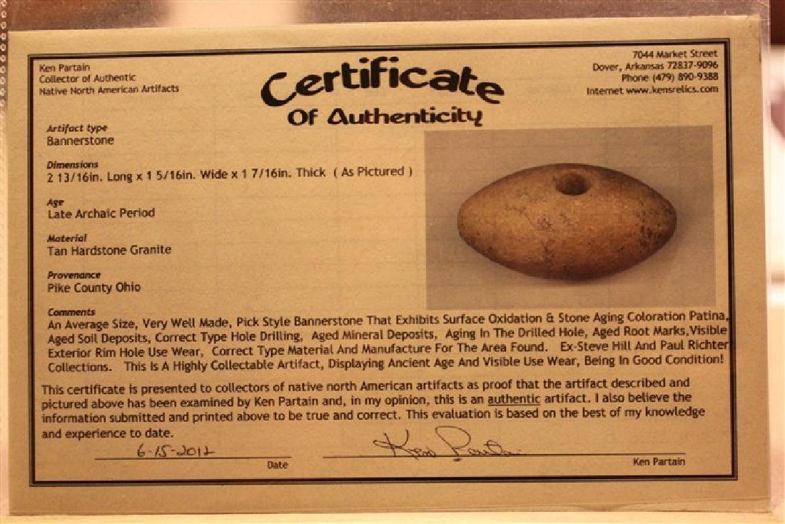 """2 13/16"""" L Bannerstone, Pike County, OH w/ 2 COA's - 4"""