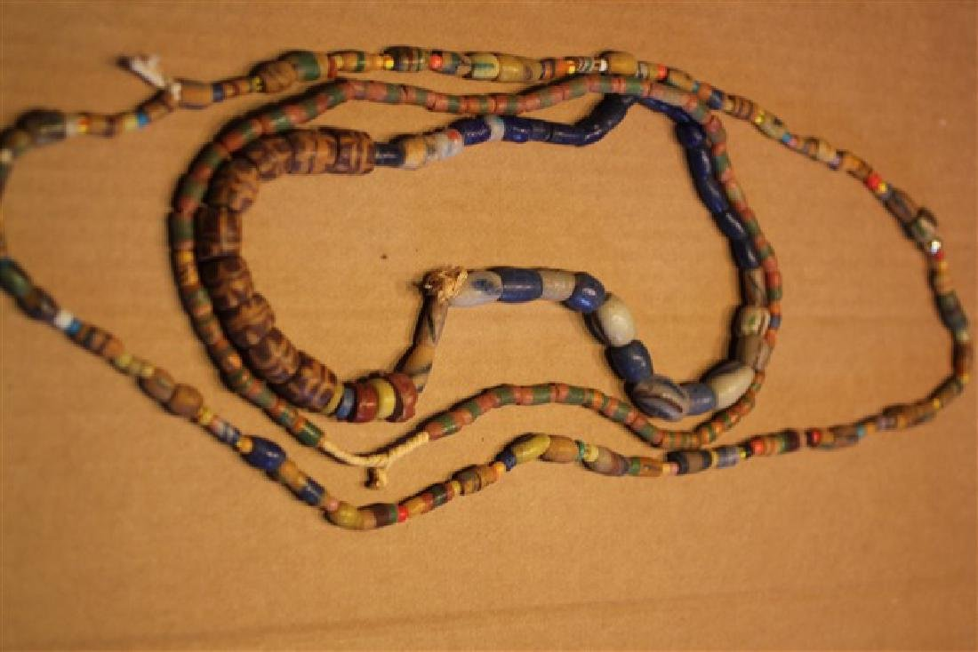 "3 Strands of Trade Beads, (2) 24"" & (1)26"""