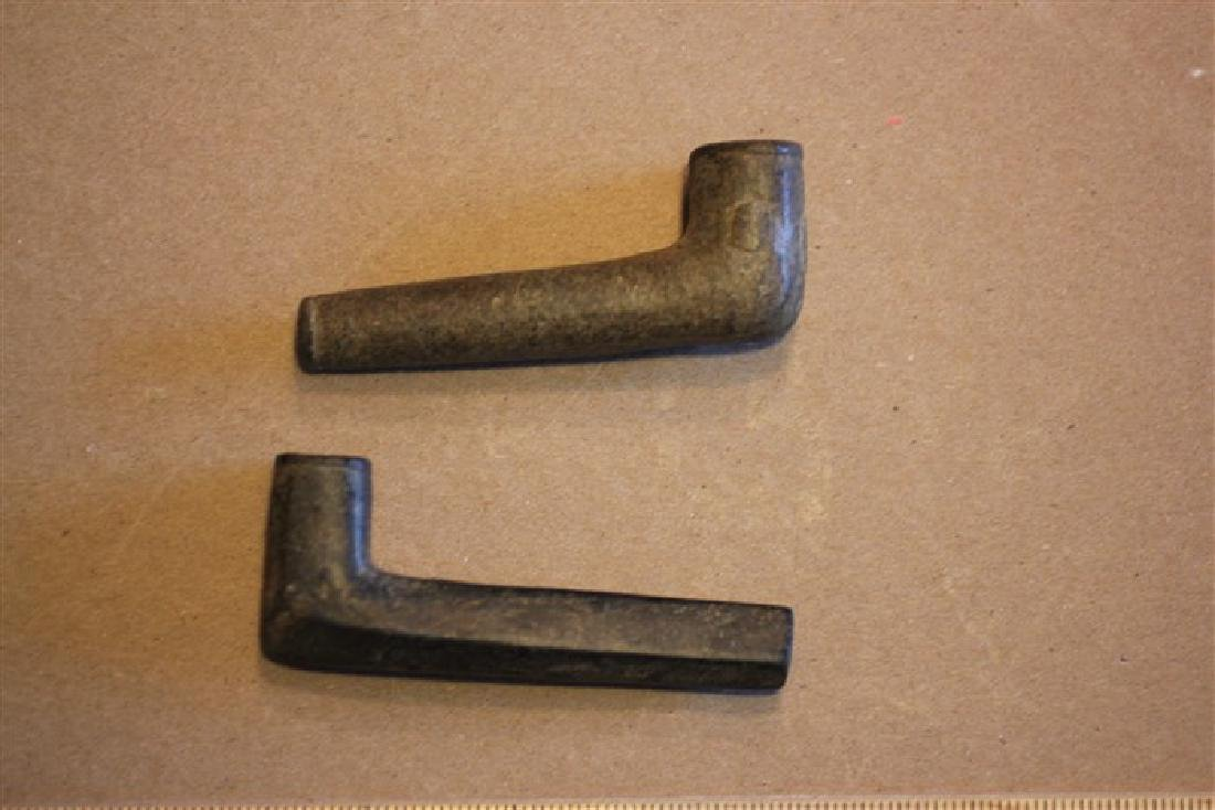 "Two 3 1/2"" L Hopewell Pipes, OHIO"
