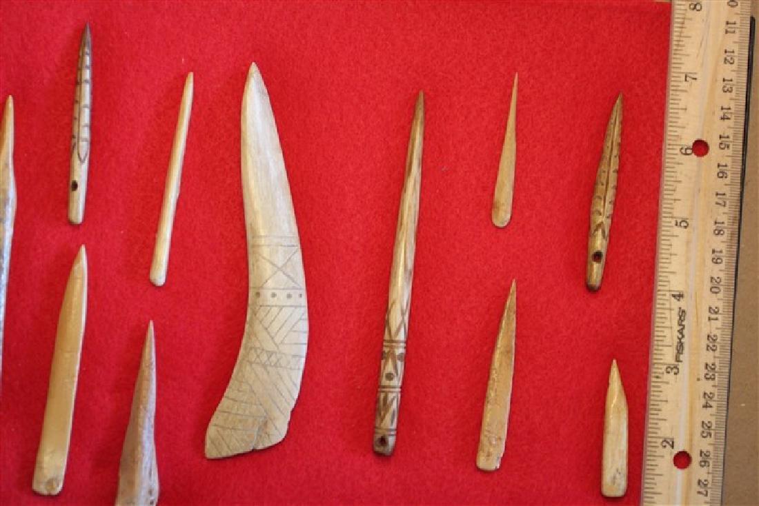 Eleven Bone Awls & Needles, KY & ARK