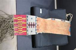 """31""""L BEADED/QUILL SIOUX PIPE BAG"""