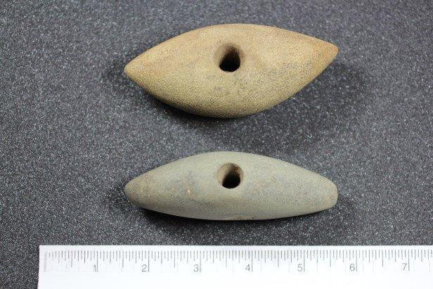 """4 1/16""""L & 4 1/8""""L Stone Tomahawk Heads"""