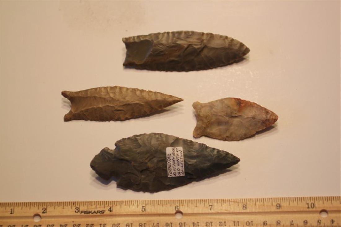 """4 3/8"""" Turkey Tail, KY, 2 5/8"""" Paleo, KY      3 7/8"""""""