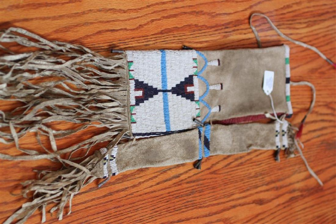 """Approx. 24"""" Brain-cured Beaded Both Sides Plain Indian"""