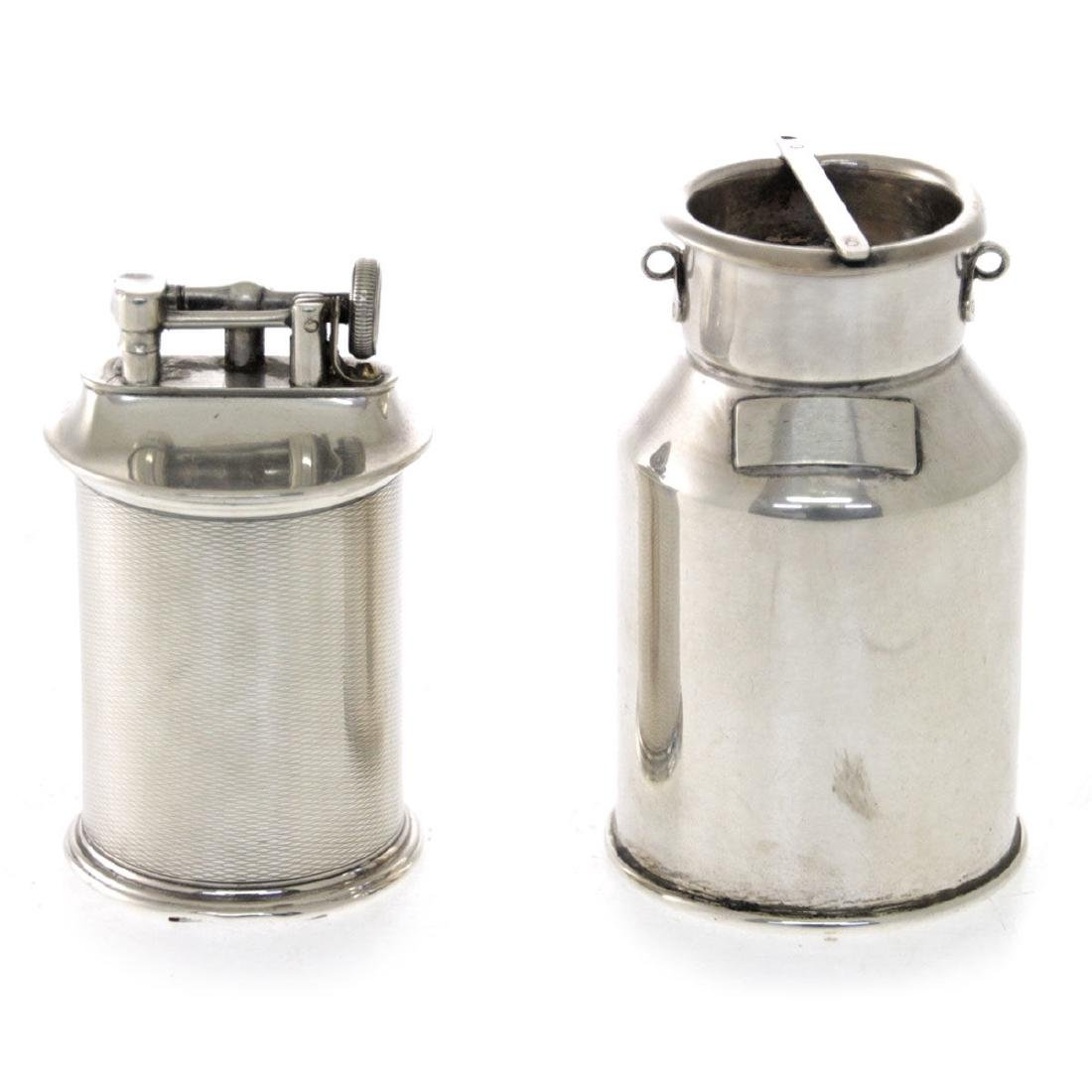 Silver Lighter and Box.