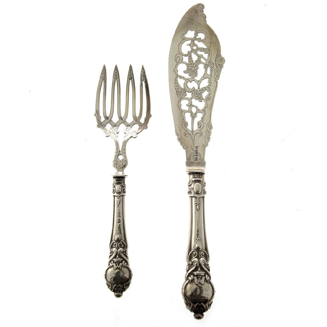 John Gammage Sterling Silver Fish Serving Set,