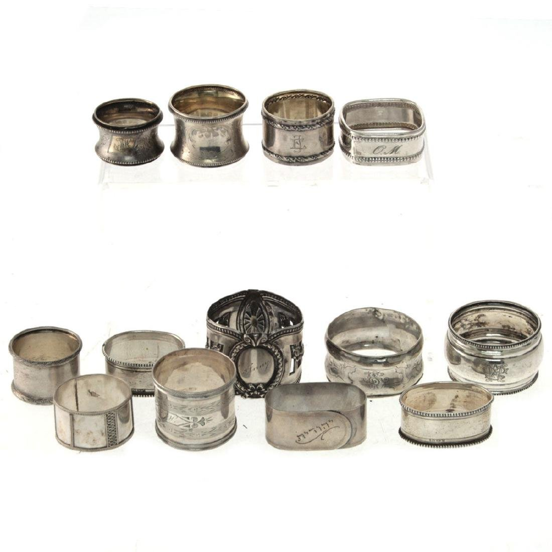 Collection of 13 Napkin Rings.