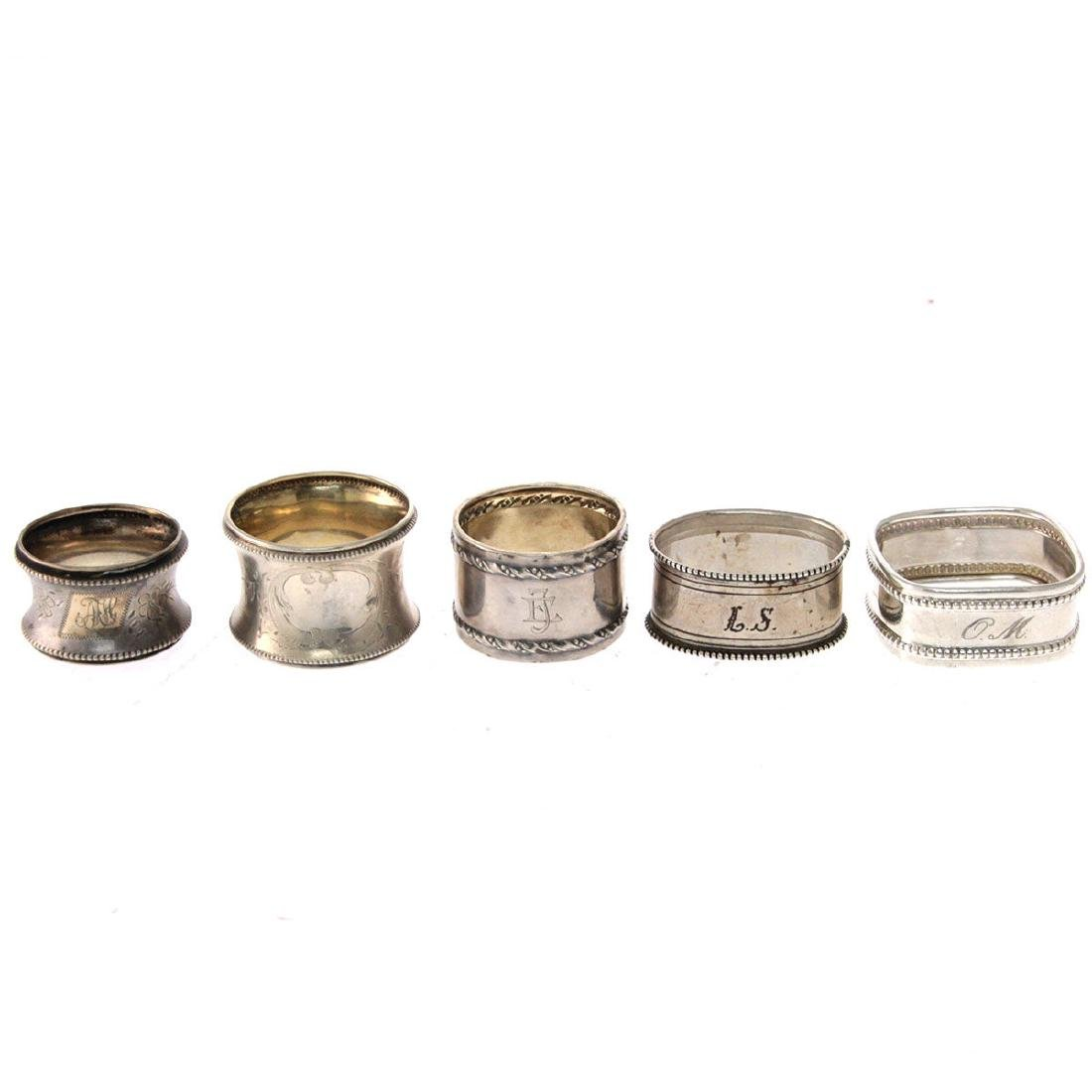 Collection of 13 Napkin Rings. - 2