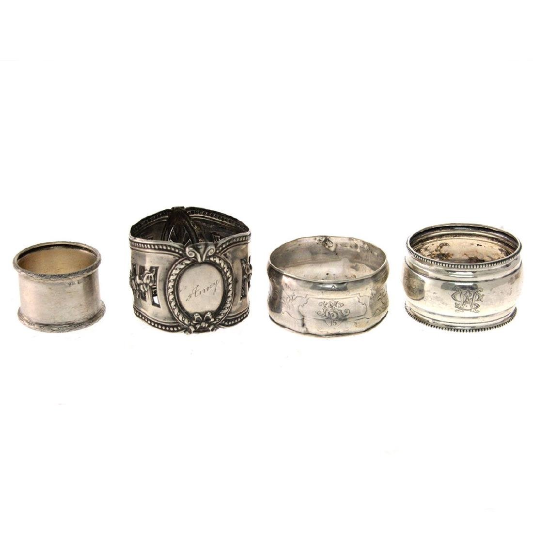 Collection of 13 Napkin Rings. - 3