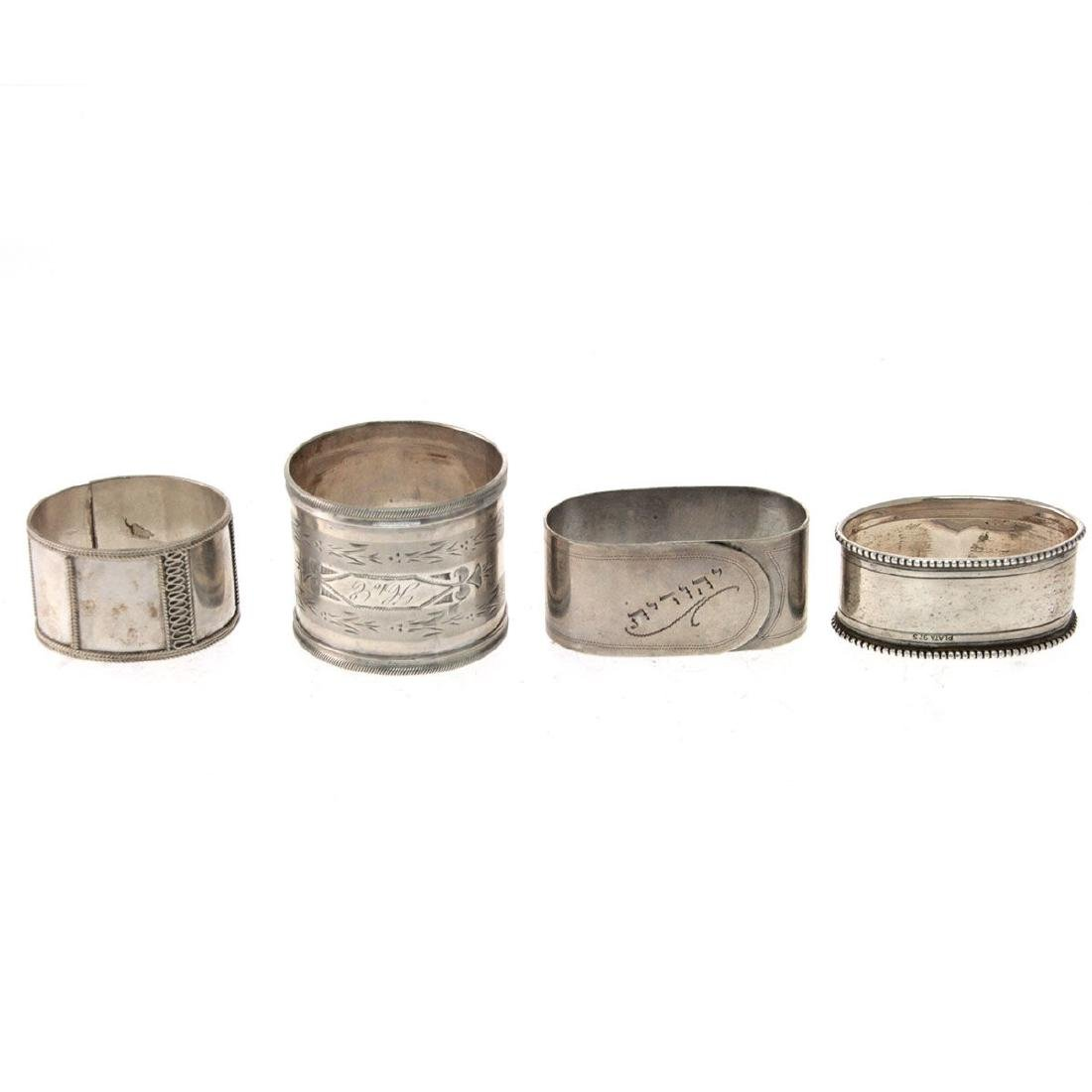 Collection of 13 Napkin Rings. - 4