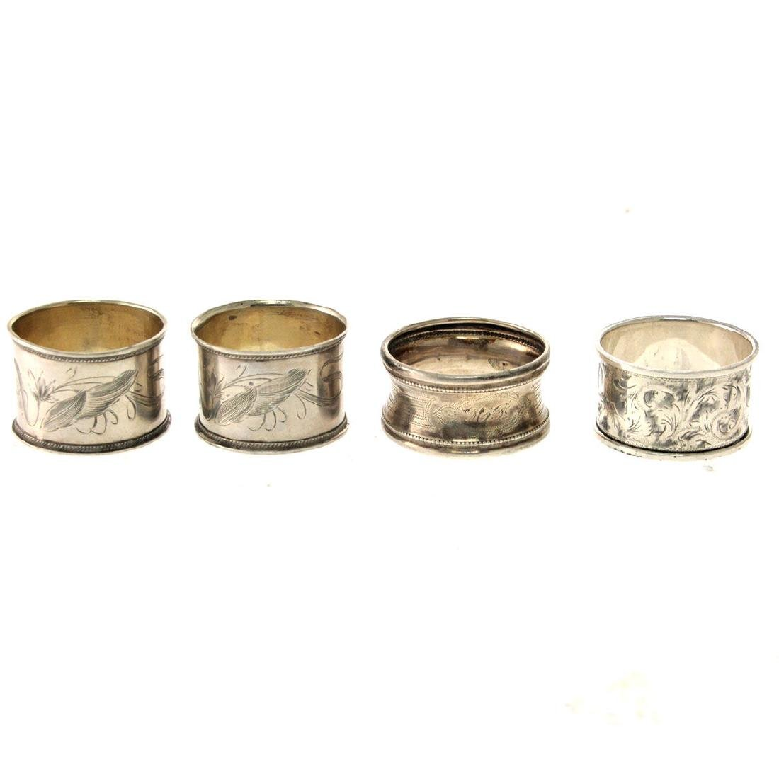Collection of 10 Silver Napkin Rings. - 2