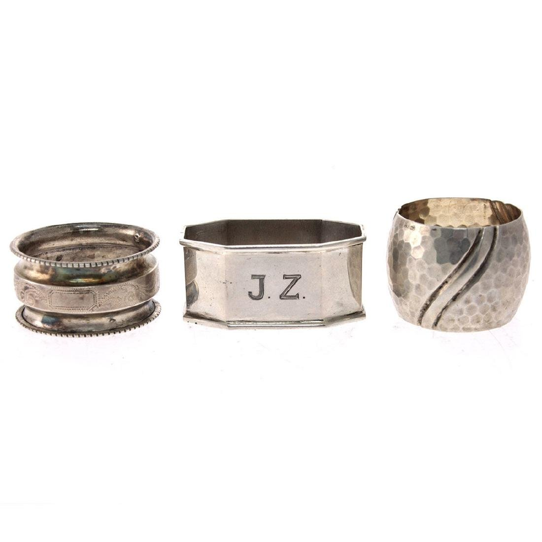 Collection of 10 Silver Napkin Rings. - 4